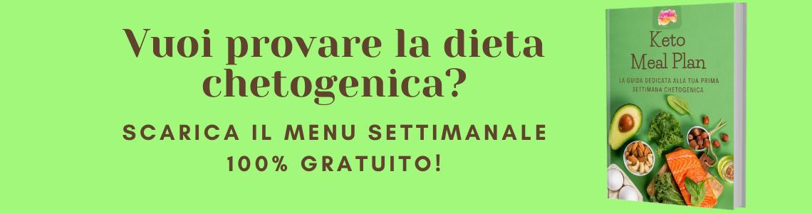 dieta chetogenica menù settimanale pdf