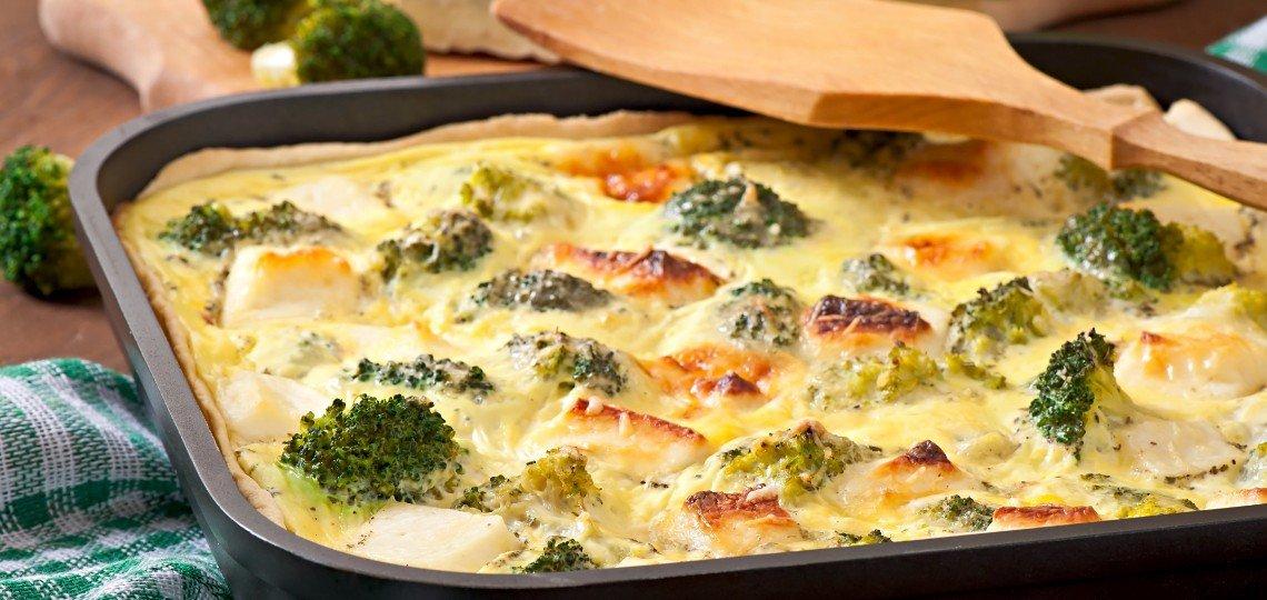 Quiche di broccoli e formaggio di capra