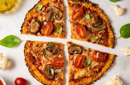 keto pizza con farina di semi di lino