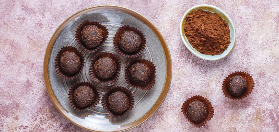 tartufini di cioccolato low-carb